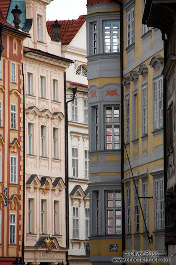 Houses near Prague`s old town square