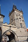 Travel photography:Western tower of the Charles Bridge, Czech Republic