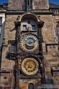 Travel photography:Astronomical clock and city hall tower on the old town square, Czech Republic