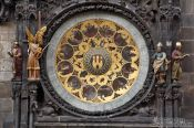 Travel photography:Old town city hall facade detail, Czech Republic
