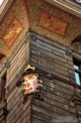 Travel photography:Facade detail in Prague`s Old Town, Czech Republic