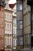 Travel photography:Houses near Prague`s old town square, Czech Republic