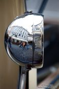 Travel photography:Reflections in a vintage car headlamp, Czech Republic