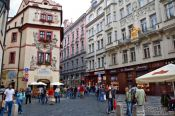 Travel photography:Street in Prague`s Old Town, Czech Republic