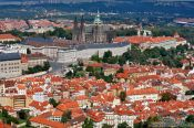 Travel photography:Panorama of Prague castle with St. Vitus Cathedral, Czech Republic
