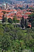 Travel photography:View of Prague from the orchards at Strahov Monastery, Czech Republic