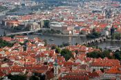 Travel photography:View of Prague and the Moldau (Vltava) river, Czech Republic