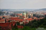 Travel photography:Prague rooftop panorama, Czech Republic