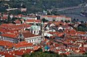 Travel photography:Aerial view of the Lesser Quarter, Czech Republic