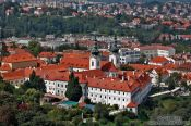 Travel photography:Aerial view of the Strahov Monastery (Strahovský klášter) , Czech Republic
