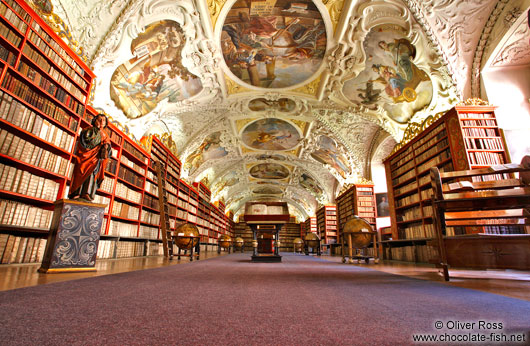 The library at Strahov Monastery (Strahovský klášter)