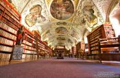 Travel photography:The library at Strahov Monastery (Strahovský klášter), Czech Republic