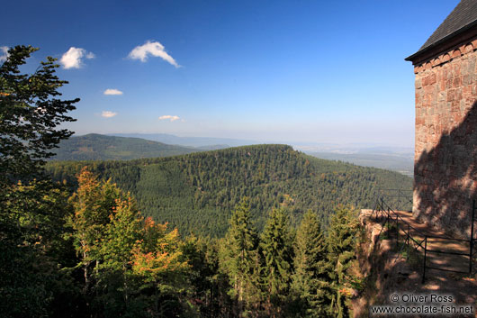 View from the Saint Odile monastery onto the Vosges mountains