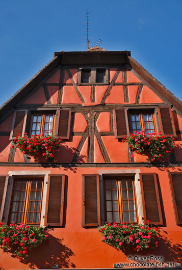 Half-timbered house in Obernai