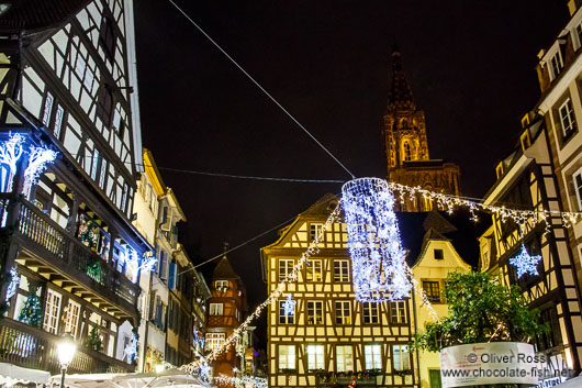 Strasbourg Christmas Market with cathedral