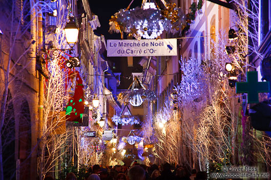 Street decoration on the Strasbourg Christmas market