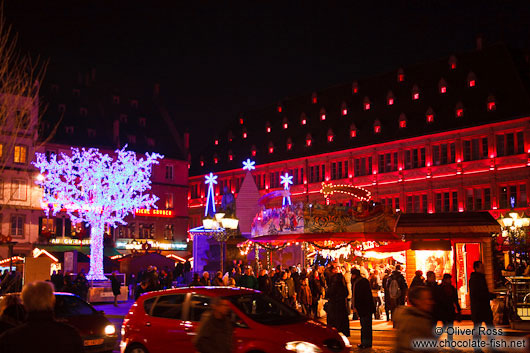 Street decorations at the Strasbourg Christmas market