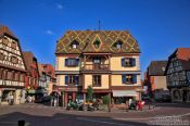 Travel photography:Main square in Obernai, France