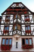 Travel photography:Half-timbered house in Obernai, France