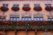 Travel photography:Facade of the Obernai town hall, France
