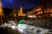 Travel photography:Kaysersberg village by night, France