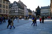 Travel photography:Munsterplatz in Strasbourg, France