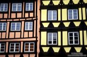 Travel photography:Facade of traditional houses in Strasbourg, France