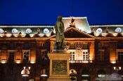Travel photography:Place Kleber during the christmas market in Strasbourg, France