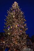 Travel photography:Christmas tree at the Strasbourg Christmas market, France