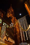 Travel photography:Strasbourg cathedral with Christmas decorations, France