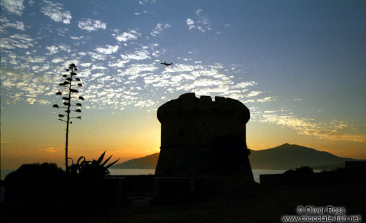 Sunset over Porticio Tower (Corsica)