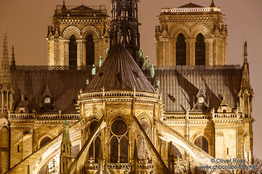 View of the Notre Dame cathedral in Paris