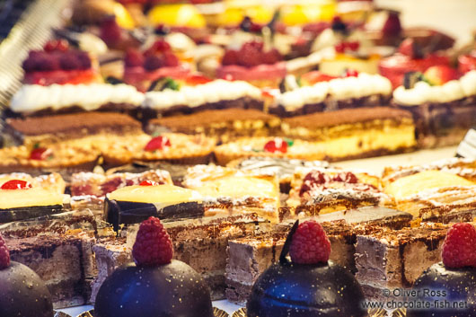 Delicacies in a Paris patisserie