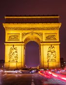 Travel photography:Paris Arc de Triomphe in rush hour traffic, France