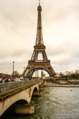 Travel photography:Paris Eiffel Tower with river Seine, France