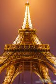 Travel photography:Paris Eiffel Tower at night, France