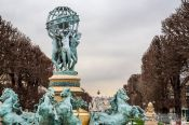 Travel photography:The Fontaine des Quatre-Parties-du-Monde (fountain of the observatory) at the Jardin du Luxembourg in Paris, France
