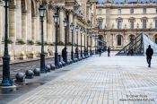 Travel photography:Arches at the Louvre museum in Paris, France