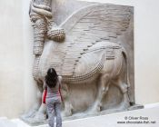 Travel photography:Assyrian hall in the Louvre museum in Paris, France