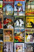 Travel photography:Old style postcard for sale in Paris´ Montmartre district, France