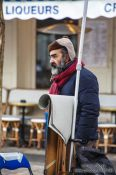 Travel photography:Artist in Paris Montmartre, France