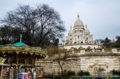 Travel photography:The Sacre Coeur Basilica in Paris´ Montmartre district, France