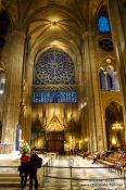 Travel photography:Inside the Notre Dame cathedral in Paris, France