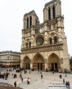 Travel photography:View of Notre Dame cathedral in Paris, France