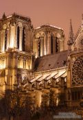 Travel photography:Paris Notre Dame cathedral by night, France