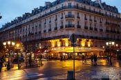 Travel photography:Paris café near Notre Dame cathedral, France
