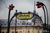Travel photography:Traditional sign for a Paris underground station, France