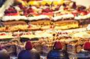 Travel photography:Delicacies in a Paris patisserie, France