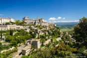 Travel photography:View of Gordes village in the Luberon, France