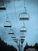 Travel photography:Chairlift to the Roc de la Calme (2200m), France